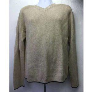 Men's Sweater Long Sleeve V Neck L